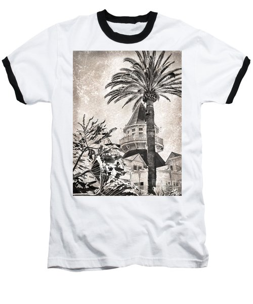 Baseball T-Shirt featuring the photograph Hotel Del Coronado by Peggy Hughes