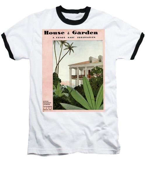 House & Garden Cover Illustration Baseball T-Shirt