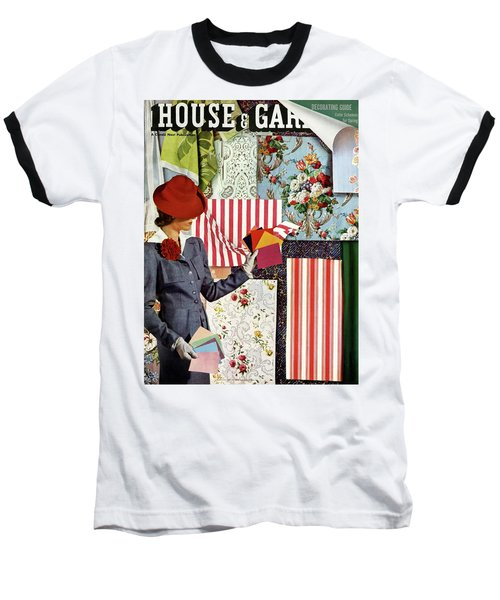 House & Garden Cover Illustration Of A Woman Baseball T-Shirt