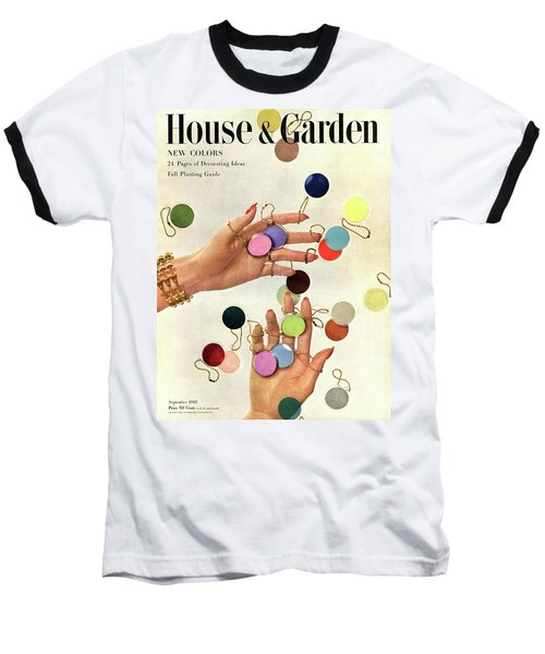 House & Garden Cover Of Woman's Hands With An Baseball T-Shirt