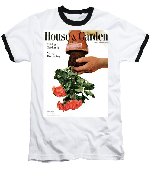 House And Garden Cover Featuring A Person Baseball T-Shirt