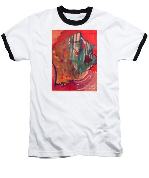 How Much I Loved You Original Contemporary Modern Abstract Art Painting Baseball T-Shirt by RjFxx at beautifullart com