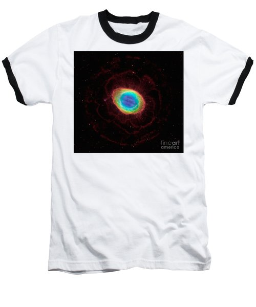 Baseball T-Shirt featuring the  Hubble Reveals The Ring Nebulas True Shape by Paul Fearn