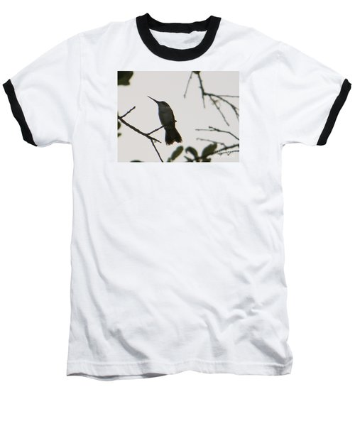 Baseball T-Shirt featuring the photograph Hummingbird Silhouette 2 by Joy Hardee
