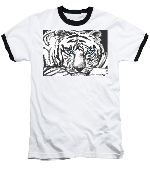 Baseball T-Shirt featuring the drawing Hungry Eyes by Sophia Schmierer