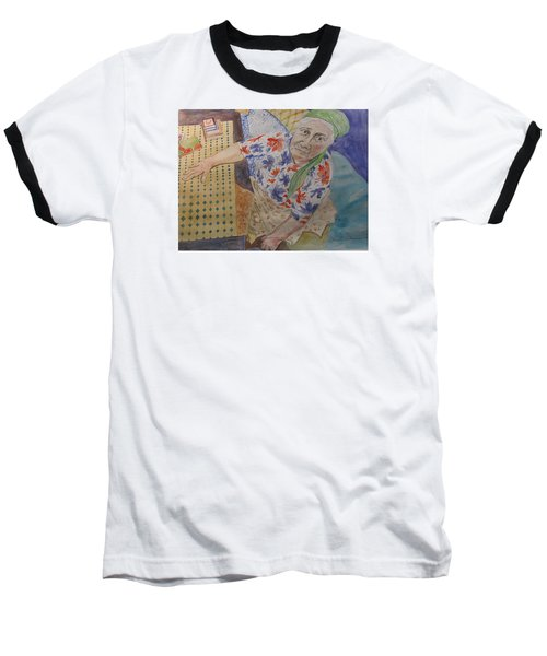 Baseball T-Shirt featuring the painting I Know I'm Right  by Esther Newman-Cohen
