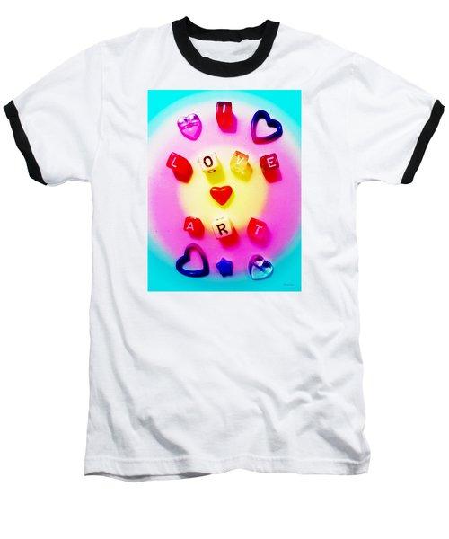 I Love Art Baseball T-Shirt