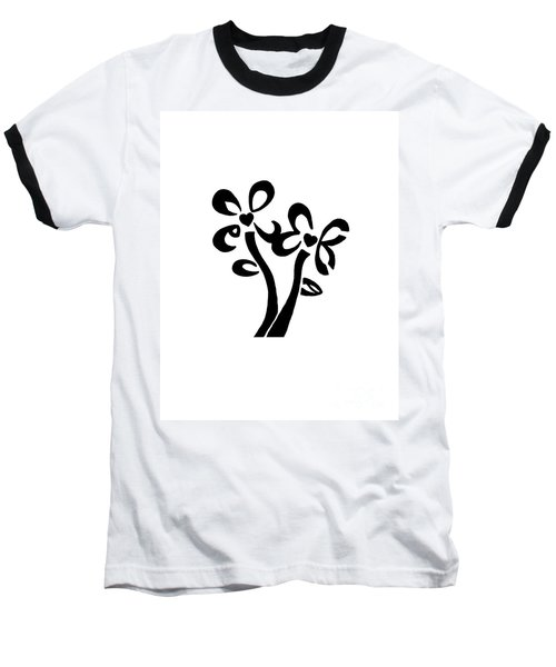 Baseball T-Shirt featuring the drawing I Love You Flowers by Tamir Barkan