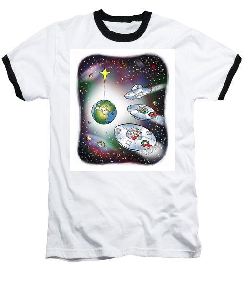 We Three Spacemen Baseball T-Shirt