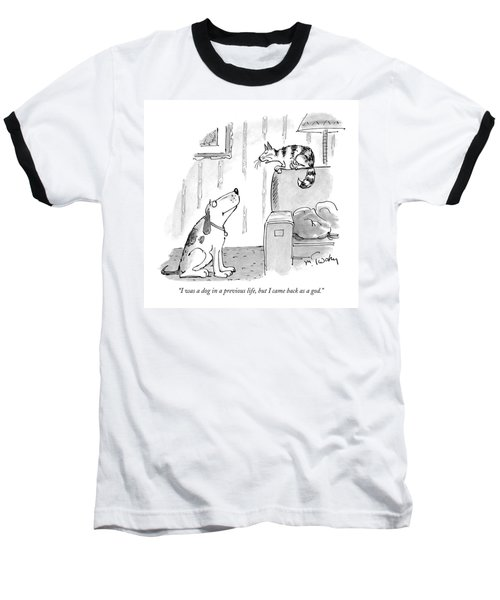 I Was A Dog In A Previous Life Baseball T-Shirt