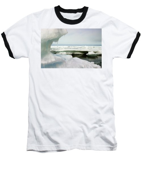 Baseball T-Shirt featuring the photograph Ice Barrow Alaska July 1969 By Mr. Pat Hathaway by California Views Mr Pat Hathaway Archives