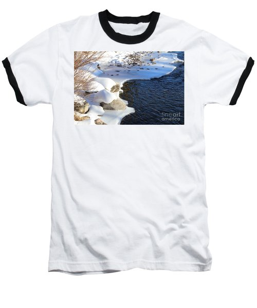 Ice Cold Water Baseball T-Shirt by Fiona Kennard