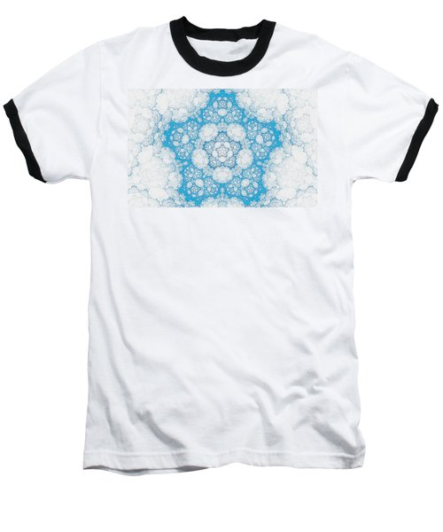 Baseball T-Shirt featuring the digital art Ice Crystals by GJ Blackman
