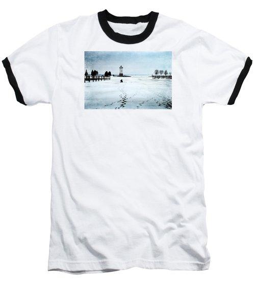 Ice Fishing Solitude 2 Baseball T-Shirt