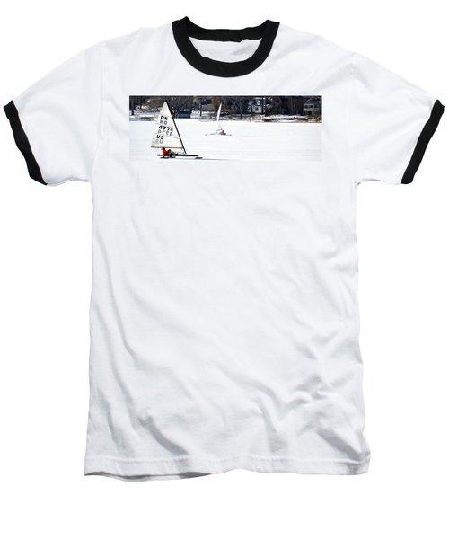 Ice Yacht Race Baseball T-Shirt