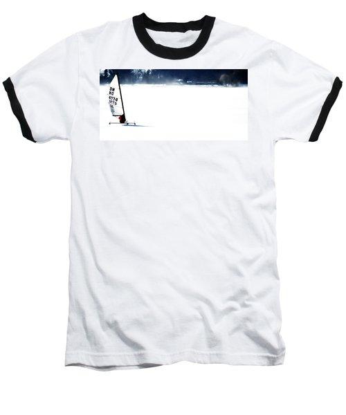 Ice Yachting Baseball T-Shirt