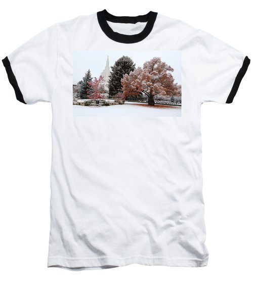 Idaho Falls Temple Winter Baseball T-Shirt