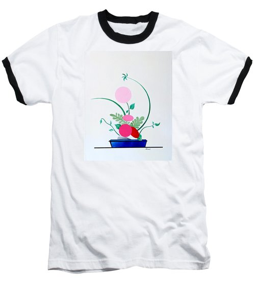 Ikebana #3 Blue Pot Baseball T-Shirt by Thomas Gronowski