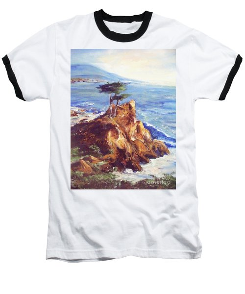 Baseball T-Shirt featuring the painting Imaginary Cypress by Eric  Schiabor