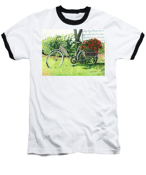 Impatiens To Ride Baseball T-Shirt by LeAnne Sowa