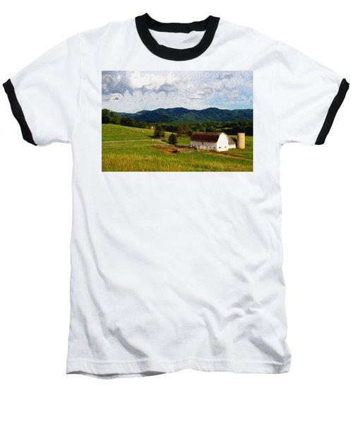 Baseball T-Shirt featuring the painting Impressionist Farming by John Haldane