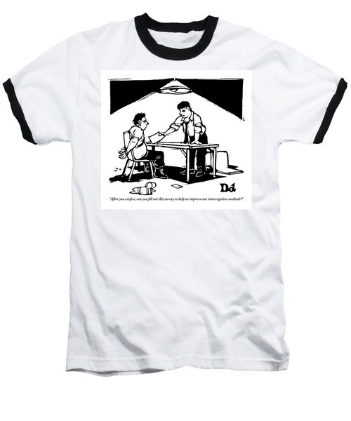 In A Stereotypical Interrogation Room Baseball T-Shirt
