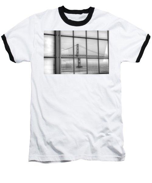 in a window the Bay Bridge Baseball T-Shirt