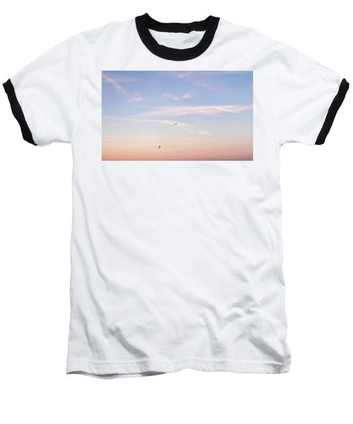Baseball T-Shirt featuring the photograph In Flight Over Rehoboth Bay by Pamela Hyde Wilson