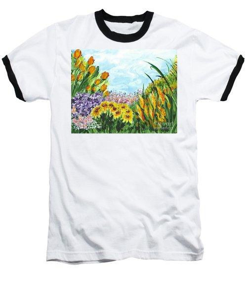 In My Garden Baseball T-Shirt by Holly Carmichael