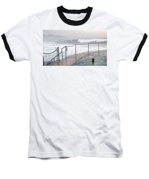 Baseball T-Shirt featuring the photograph In Safe Waters by Evelyn Tambour