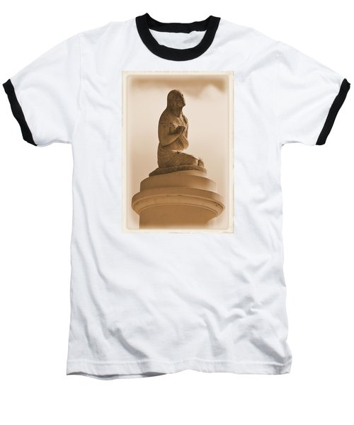 In Supplication Baseball T-Shirt by Nadalyn Larsen
