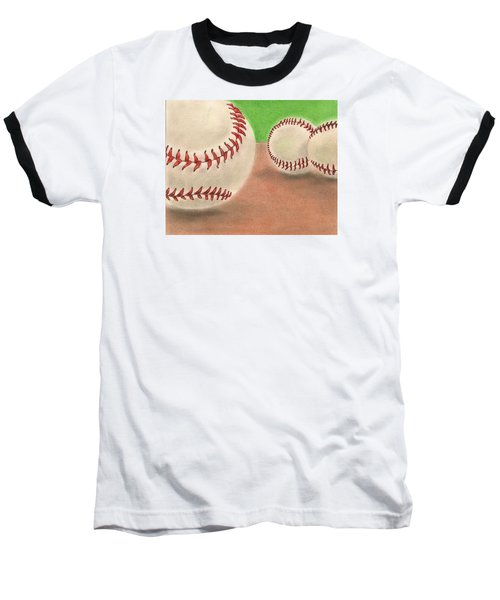 Baseball T-Shirt featuring the drawing In The Dirt by Troy Levesque