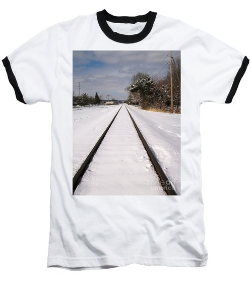 Baseball T-Shirt featuring the photograph In The Distance by Sara  Raber