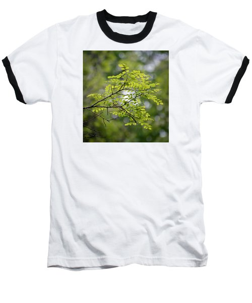 Baseball T-Shirt featuring the photograph In The Green by Kerri Farley