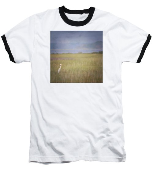 In The Marsh  Baseball T-Shirt by Kerri Farley