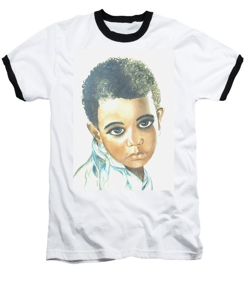 Baseball T-Shirt featuring the painting Innocent Sorrow by Sophia Schmierer