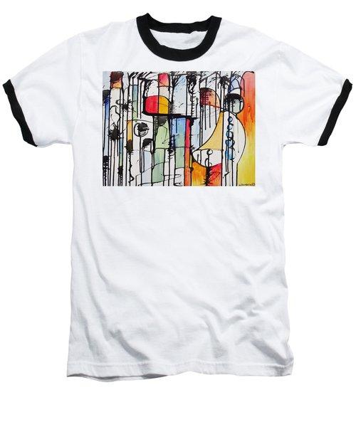 Internal Opposition Baseball T-Shirt by Jason Williamson
