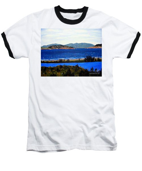 Baseball T-Shirt featuring the painting Iona Formerly Rams Islands by Barbara Griffin
