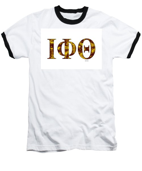 Iota Phi Theta - White Baseball T-Shirt by Stephen Younts
