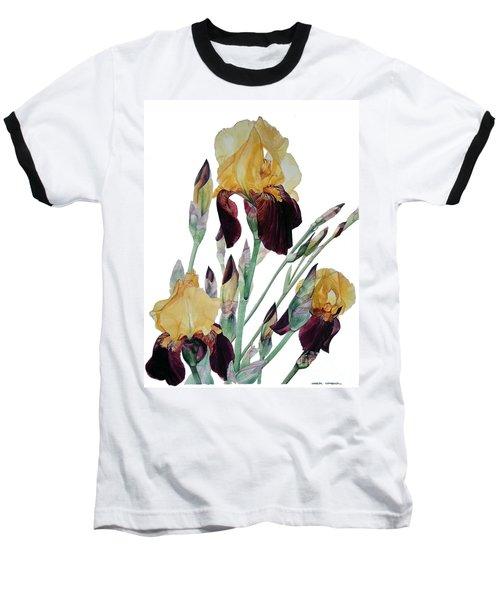 Iris Beethoven Romance In Fa Major Baseball T-Shirt by Greta Corens