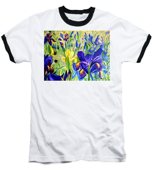 Iris Spring Baseball T-Shirt by Julie Brugh Riffey