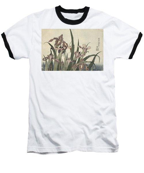 Irises And Grasshopper Baseball T-Shirt