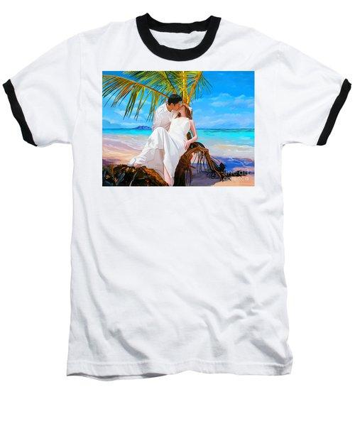 Baseball T-Shirt featuring the painting Island Honeymoon by Tim Gilliland