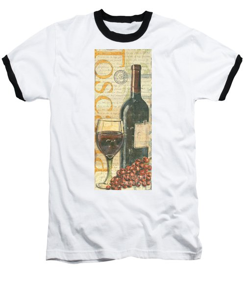 Italian Wine And Grapes Baseball T-Shirt by Debbie DeWitt
