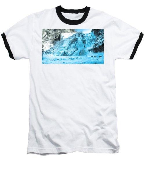 Ithaca Falls In Winter Baseball T-Shirt