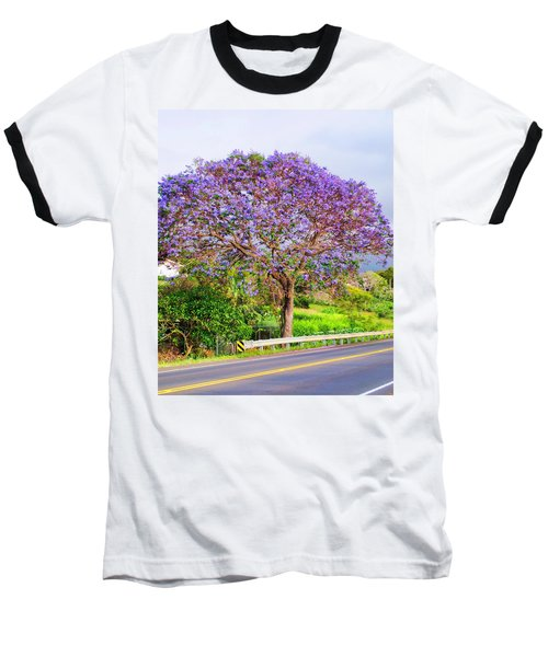 Jacaranda 4 Baseball T-Shirt by Dawn Eshelman