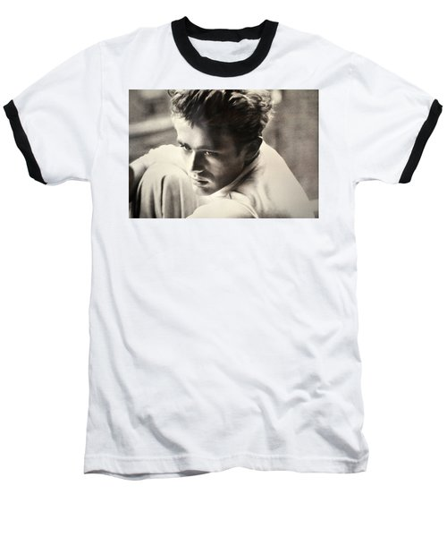 James Dean Black And White Baseball T-Shirt