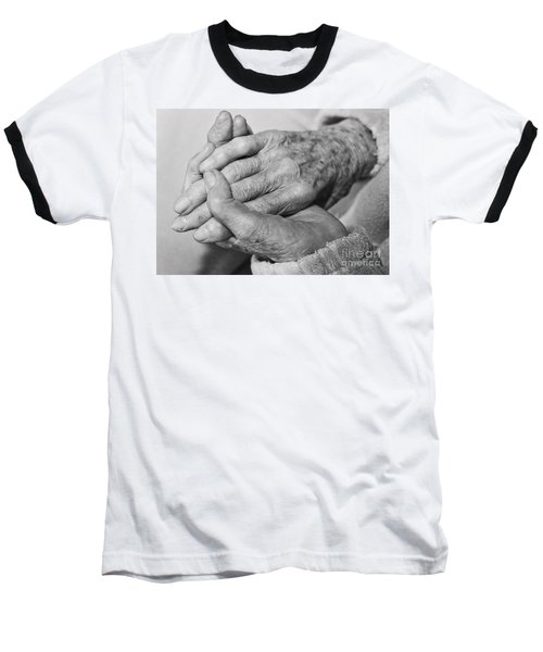 Baseball T-Shirt featuring the photograph Jan's Hands by Roselynne Broussard