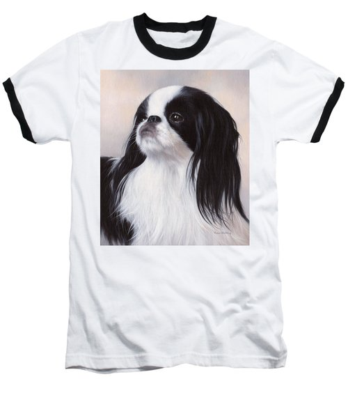 Japanese Chin Painting Baseball T-Shirt