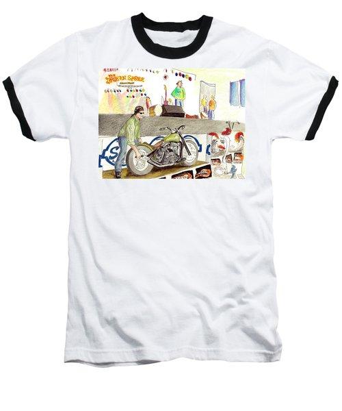 Jay Allen At The Broken Spoke Saloon Baseball T-Shirt by Albert Puskaric